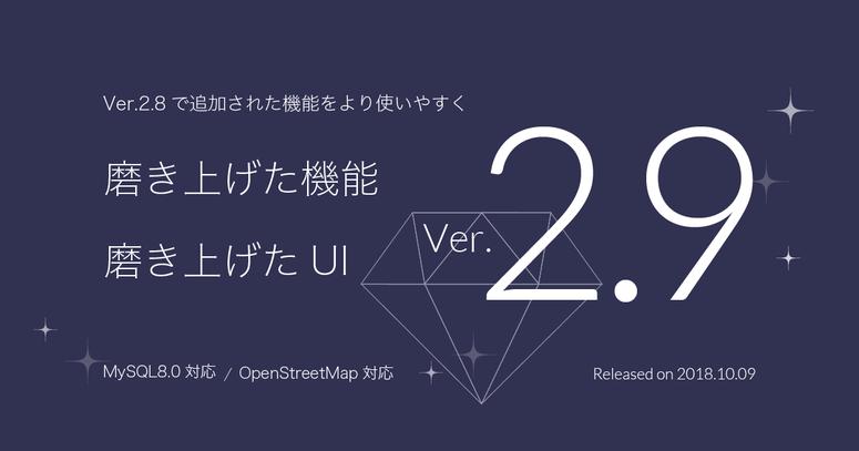 Ver. 2.9.0 リリース
